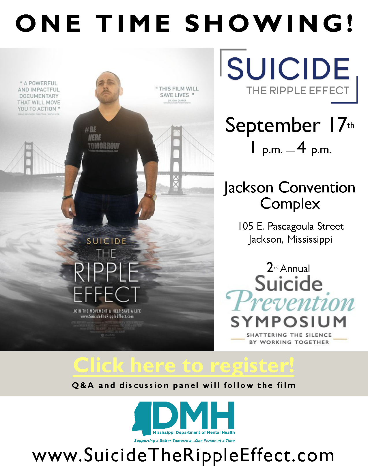 Second Annual Suicide Prevention Symposium Is September 17 Ms