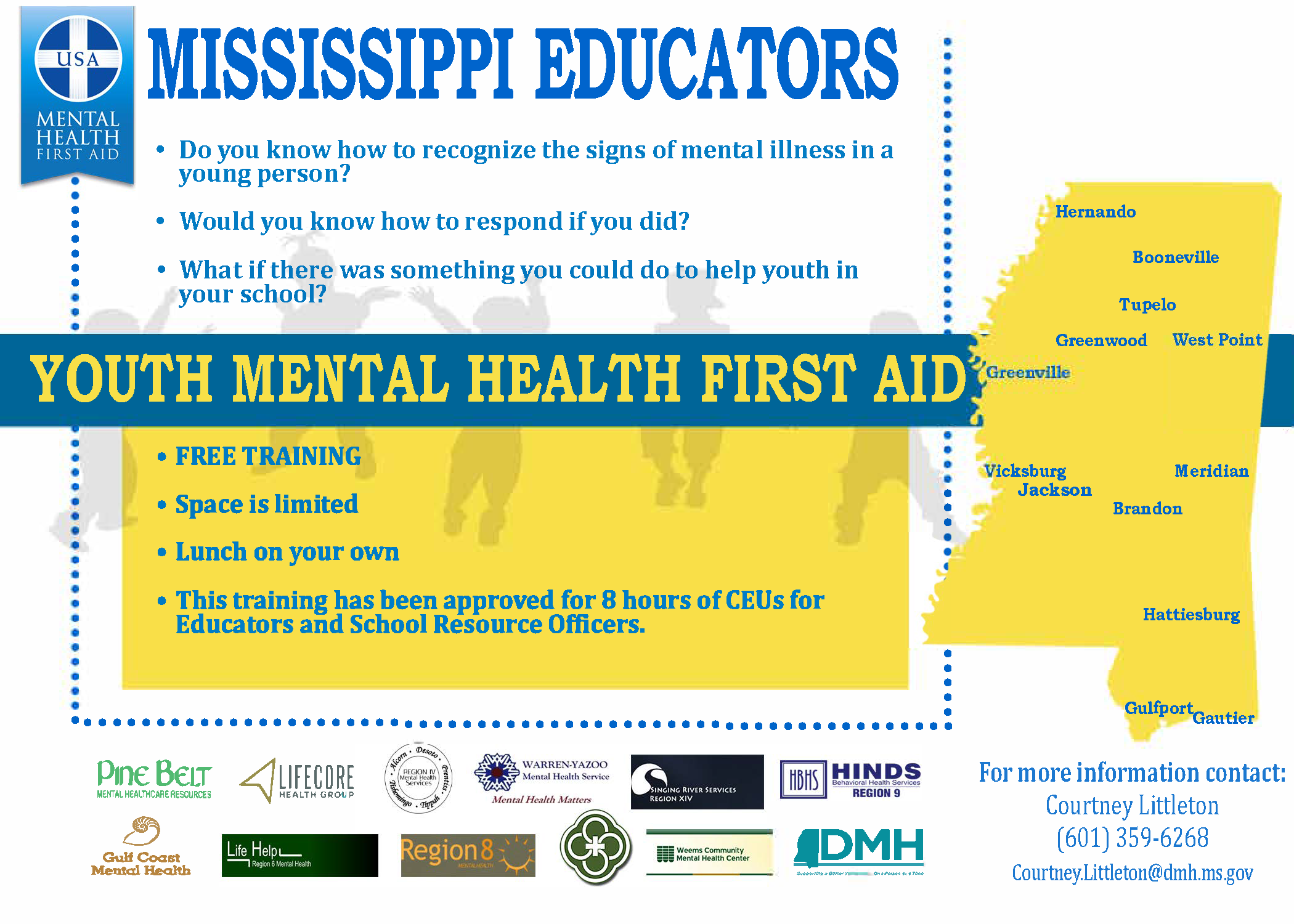 DMH Offering Mental Health First Aid Training | MS